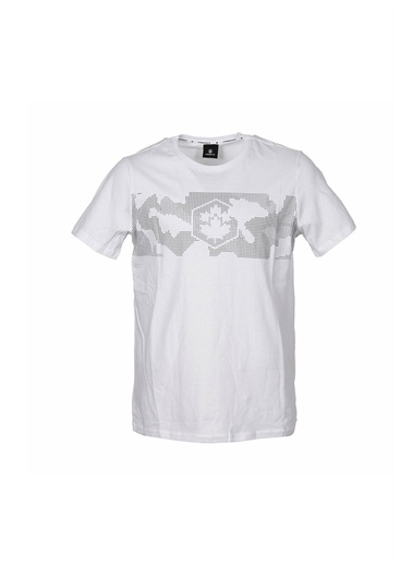 Lumberjack Ct379 Army Logo T-Shirt Erkek Kısa Kol T-Shirt Beyaz